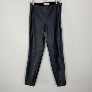 Faux Leather Black pants Size 4 Side and Ankle Zip